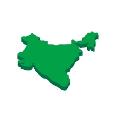 India map icon isometric 3d style vector image vector image