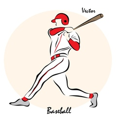 showing a Baseball vector image