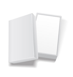 white open empty rectangular cardboard box vector image
