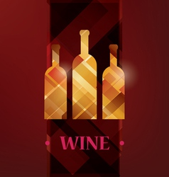wine menu card stylized background vector image