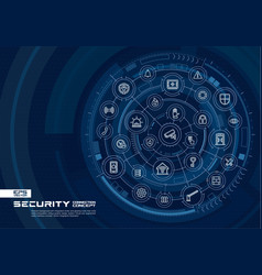 abstract security access control background vector image vector image