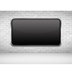 Black Frame on Brick Wall vector image vector image
