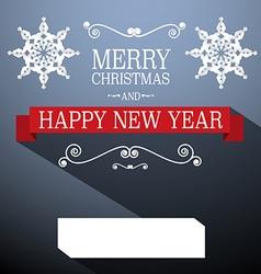 Christmas card retro decoration vector