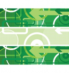 circles background green vector image vector image