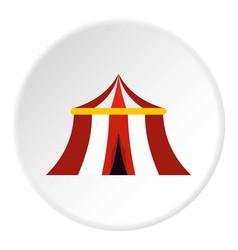 Circus tent icon circle vector