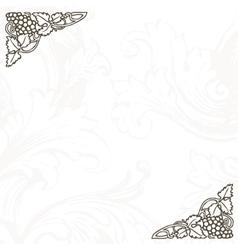 Floral Vine Menu Template vector image vector image