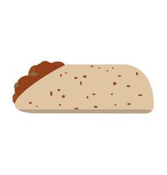 isolated burrito icon vector image