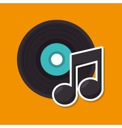 music retro vinyl icon vector image vector image