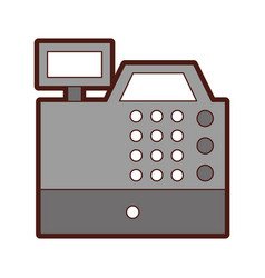 Register machine isolated icon vector