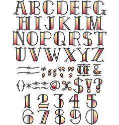 Retro fontface vector image