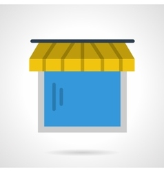 Showcase with awning icon vector image
