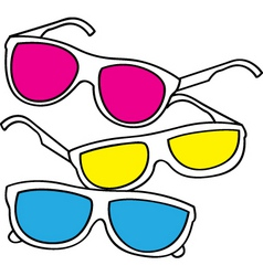 sunglasses doodle vector image vector image