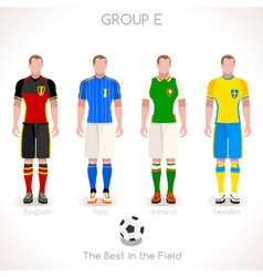 EURO 2016 GROUP E Championship vector image vector image