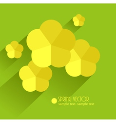 paper flowers vector image vector image