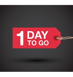 1 day left sale vector image