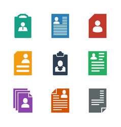 9 resume icons vector