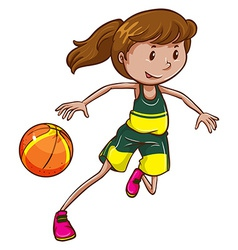 A female basketball player vector image