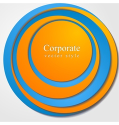Abstract bright corporate design vector image