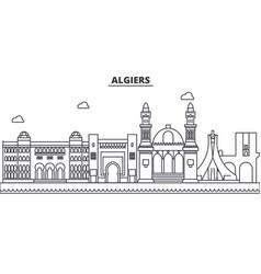 Algiers architecture line skyline vector
