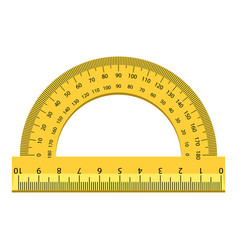 Angle ruler icon realistic style vector