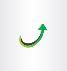 arrow up growing icon vector image
