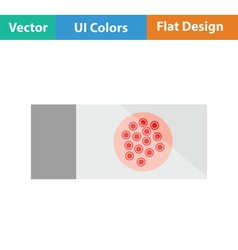Bacterium glass icon vector