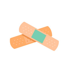 Band aid flat composition vector
