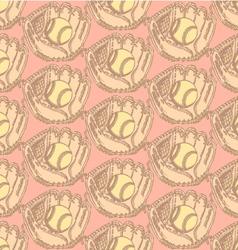 Baseball Ball Glove vector image