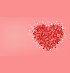 big red heart on pink background valentines day vector image