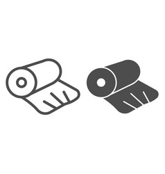 Cellophane line and solid icon cellophane tape vector