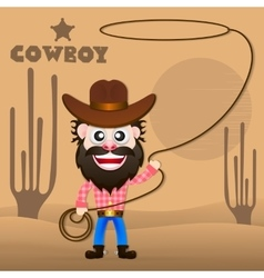 Cheerful cowboy vector