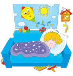 Child sleeping vector