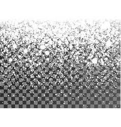 christmas snowflakes on a transparent background vector image