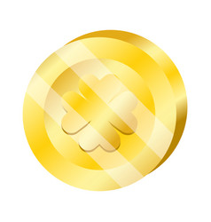 Coin gold wealth vector