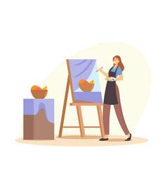 Creative occupation drawing hobby art class vector