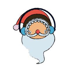 Cute santa claus christmas character vector