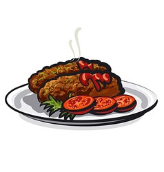 Cutlets vector