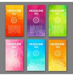 Design template set of web backgrounds Brochure vector