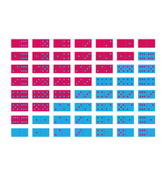 Domino sets 28 tiles two packages in pink and vector