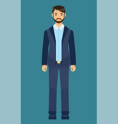 dresscode office worker man in stylish coat vector image