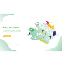 email or e-mail concept with big word and vector image