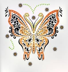 embroidery butterfly vector image