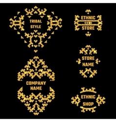 Ethnic Style Gold Symbol 1 vector image