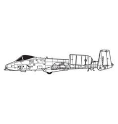 Fairchild a-10a thunderbolt ii vector