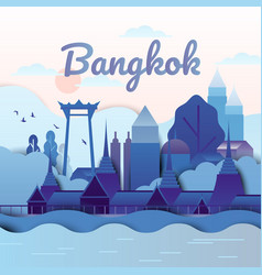 famous places in bangkok thailand vector image