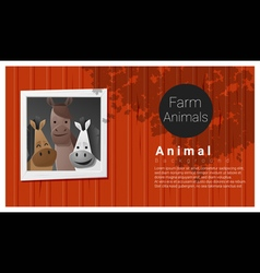 Farm animal background with horse vector image