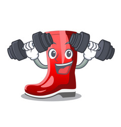 Fitness rubber boots in a agricultural cartoon vector