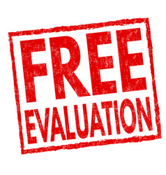 Free evaluation sign or stamp vector