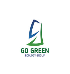 go green eco concept letter g icon vector image