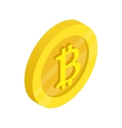 Gold coin with baht sign icon isometric 3d style vector